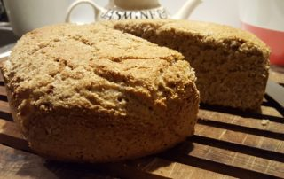 Irish soda bread hot from the oven